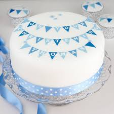 boys christening cake decorating kit with bunting by clever little