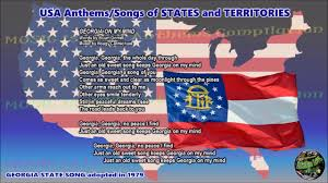 State Flag Of Georgia Georgia State Song Georgia On My Mind With Music Vocal And Lyrics