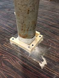 over on dover a post about a post disguising a basement support