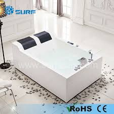 Double Bathtubs Discount Couple Massage Whirlpool Bath Tub With Double Seats