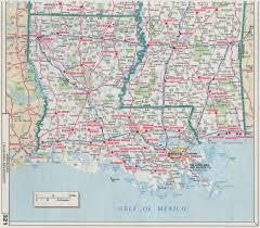 louisiana highway map highway map of louisiana map