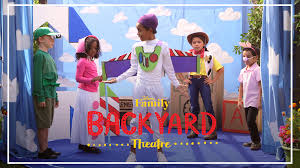 backyard theatre toy story performance disney family disney video