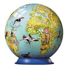 children earth globe in german ravensburger puzzle