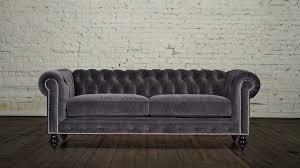 Red Velvet Chesterfield Sofa by Chesterfield Fabric Sofa