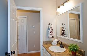 framing bathroom mirror with molding frame a bathroom mirror with molding interior design ideas