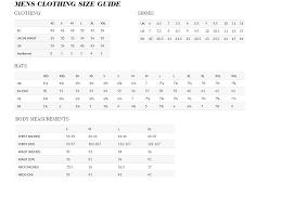 Wholesale Clothing Distributors Usa Size Chart Rakhra Int