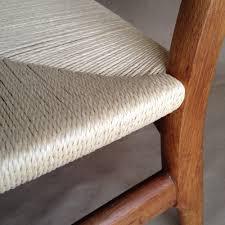 wegner ch22 chairs get new seats modern chair restoration