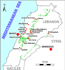 beirut on map a simplified map of lebanon showing the jezzi nian regional stage