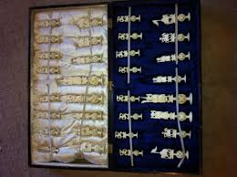 Ancient Chess Set Antique Pre Ban Ivory Chess Set Chess Forums Chess Com