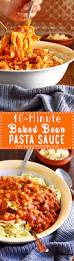 10 minute baked bean pasta sauce recipe happy foods tube
