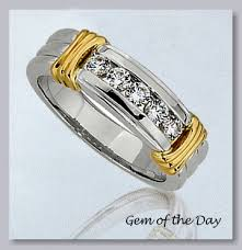 mens two tone gold wedding bands gemday s 14k two tone gold wedding band from gem of