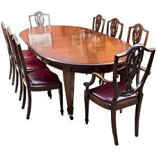 antique edwardian dining table with eight chairs circa 1900 at