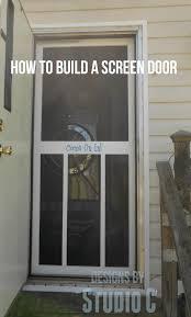 How To Frame A Door Opening Build A Screen Door U2013 Designs By Studio C