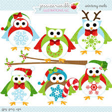 cute christmas owl clipart clip art library