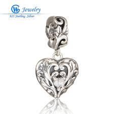 flower girl charms genuine sterling silver heart flower girl charm fit european