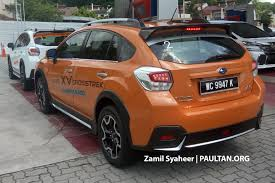 subaru orange crosstrek spied subaru xv crosstrek adds bodykit u2013 rm143k image 522724