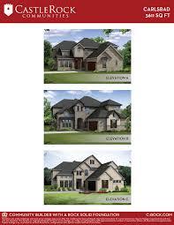 carlsbad gold home plan by castlerock communities in oak creek