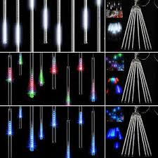 8 falling drop icicle snow fall string led tree