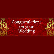 congratulations wedding banner fuji oldham gold pattern wedding banner