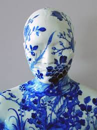 china designs porcelain busts imprinted with chinese decorative designs by ah xian