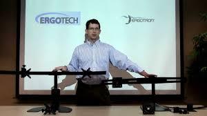 Ergotech Triple Horizontal Lcd Monitor Arm Desk Stand Ergotech Vs Ergotron Triple Desk Stand Comparison Youtube