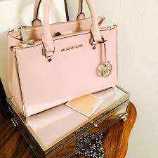 light pink michael kors bag 37 off michael kors bags mk saffiano sutton small satchel bag