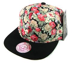 floral snapback wholesale blank floral snapbacks hats flowers black brim