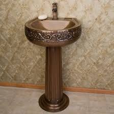 bathroom pedestal sink ideas bathroom small bathroom sink ideas with vine hammered texture