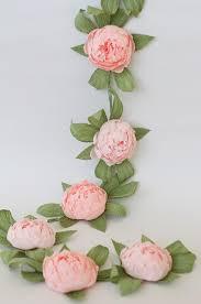 bridal garland bridal garland wedding garland paper flower garland peonies