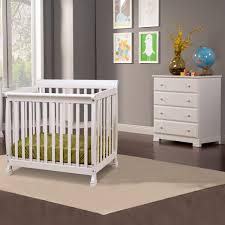 Kalani Mini Crib White Da Vinci 2 Nursery Set Kalani Mini Crib And 4 Drawer