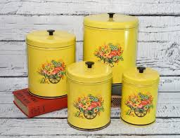 metal canisters kitchen 129 best yellow canisters images on vintage kitchen