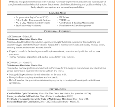 Sle Resume Electrical Worker electrician cover letter resume of industrial for