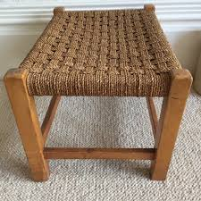 Shabby Chic Stools by Vintage Boho Woven Shabby Chic Stool Ancien Tabouret Banc Tressé