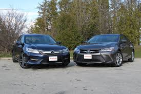 lexus sedan vs acura sedan 2016 honda accord vs 2016 toyota camry autoguide com news