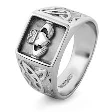 mens claddagh ring mens silver claddagh ring ms clad33