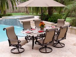 Patio Table And Chairs Set Home Design Impressive Patio Set With Swivel Chairs Wicker