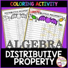 halloween algebra simplifying expressions using the distributive