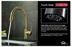 Kitchen Faucets Touch Technology Faucet Com 470 Ar Dst Sd In Arctic Stainless By Delta