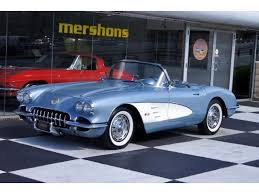 59 corvette convertible chevrolet corvette convertible 1959 blue for sale j59s105981 1959