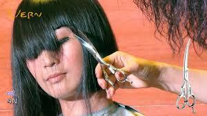 how to cut a medium bob haircut how to cut medium bob haircut with angled blunt bangs by cherry 日