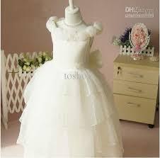ivory color princess dress flower wedding dress nice birthday gift