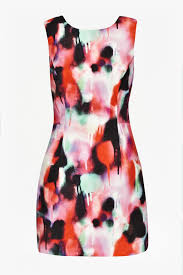 french connection miami graffiti mini dress in pink lyst