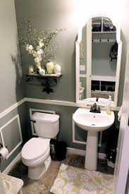 best 25 powder room decor ideas on pinterest half bath decor valspar wet cement gray bathroom little bit of paint remodeled their bathroom on a tight budget it looks like a completely new room