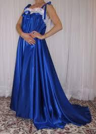 Blue Wedding Lingerie Bridal Lingerie Robe Wedding White Nylon Peignoir Peasant Sleeve
