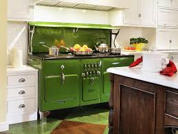 brilliant kitchen color design with green kitchen cart decor