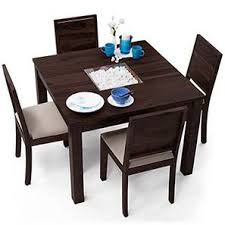 4 Seat Dining Table And Chairs Furniture In Bangalore Solid Wood Furniture For Home Office