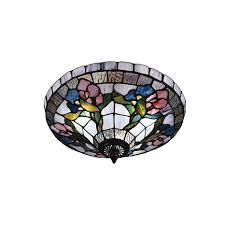 hsn tiffany style lighting hollyhock semi flush mount light fixture 6644548 hsn