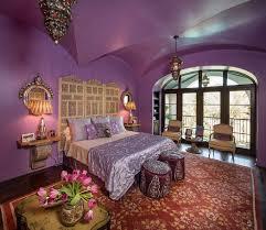 bedroom elegant moroccan bedroom design ideas with purple wall