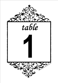 free table number templates free antique printable diy table numbers for your wedding