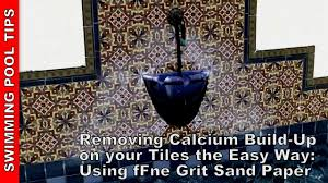 Best Way To Clean Walls by Removing Calcium Build Up From Your Pool Tile Line The Easy Way